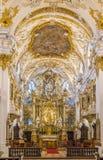 Inre av det gamla kapellet, Regensburg, Tyskland Royaltyfria Foton