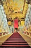 Inre av det Kunsthistorisches museet (museum av Art History) är fotografering för bildbyråer