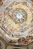 Inre av det Medici kapellet Florence arkivfoton