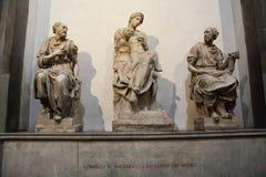 Inre av det Medici kapellet, Florence arkivfoton