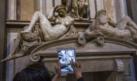 Inre av det Medici kapellet, Florence, Italien arkivbild