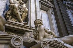 Inre av det Medici kapellet, Florence, Italien fotografering för bildbyråer