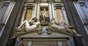 Inre av det Medici kapellet, Florence, Italien Arkivbilder
