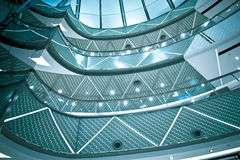 Inre av det moderna arkitektoniskt Royaltyfri Foto