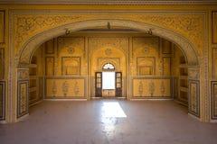 Inre av det Nahargarh fortet, Jaipur, Indien Fotografering för Bildbyråer