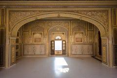 Inre av det Nahargarh fortet, Jaipur, Indien Royaltyfria Foton