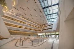 Inre av det nya Wien universitetet av nationalekonomi och affären royaltyfri bild