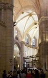 Inre av domkyrkan av helgonet Maria i Murcia Fotografering för Bildbyråer