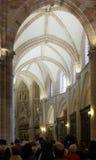 Inre av domkyrkan av St Mary i Murcia Royaltyfria Bilder