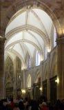 Inre av domkyrkan av St Mary i Murcia Arkivbilder