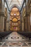Inre av domkyrkan Santa Maria del Fiore Duomo i Flo Royaltyfri Fotografi