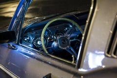 Inre av en gamla Ford Mustang GT Fotografering för Bildbyråer