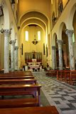 Inre av en kristen kyrka royaltyfria bilder