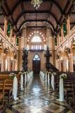Inre av en kristen kyrka Royaltyfria Foton