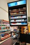 Inre av en lågprishyperpermarket Voli Arkivbild