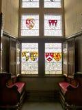 Inre av en medeltida slott, Royaltyfria Bilder