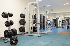 Inre av en modern idrottshall Royaltyfri Foto
