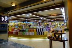 Inre av en souvenir shoppar i Akita, Japan Arkivfoto