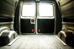 Inre av en tom lastskåpbil Royaltyfri Fotografi