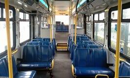 Inre av en transportbuss Arkivfoton