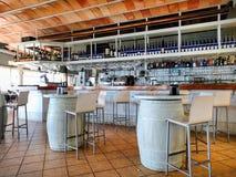 Inre av en typisk restaurang spain Arkivbild