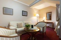 Inre av ett hotelllobbykafé Royaltyfria Foton