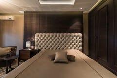 Inre av ett ledar- sovrum fotografering för bildbyråer