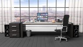 Inre av ett modernt kontor royaltyfri illustrationer