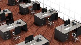 Inre av ett modernt kontor stock illustrationer