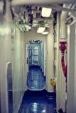 Inre av ett seglaskepp Arkivbild