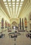 Inre av fältmuseet av naturhistoria, Chicago, Illinois Royaltyfri Bild