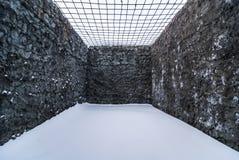 Inre av fängelsecellen Arkivbilder