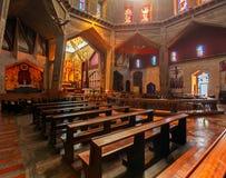 Inre av förklaringdomkyrkan i Nazareth Royaltyfri Foto