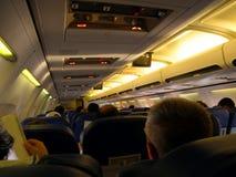 Inre av flygplanet royaltyfri fotografi