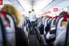 Inre av flygplanet Royaltyfria Foton
