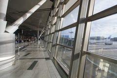 Inre av flygplatsen Vnukovo Arkivfoto