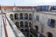 Inre av Fort Boyard i Frankrike som Charente-är maritim, Frankrike arkivfoton
