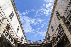 Inre av Fort Boyard i Frankrike som Charente-är maritim, Frankrike royaltyfri bild