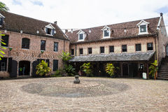 Inre av Fort Zeelandia i Paramaribo, Surinam Royaltyfri Fotografi