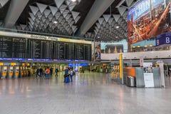 Inre av Frankfurt den internationella flygplatsen Royaltyfri Foto