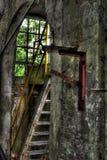 Inre av gammal fabriksbyggnad Royaltyfri Fotografi