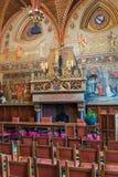 Inre av gotiska Hall i Brugge Belgien Royaltyfri Foto