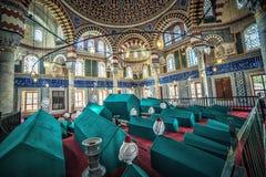 Inre av gravvalvet av Sultan Selim II Royaltyfri Foto