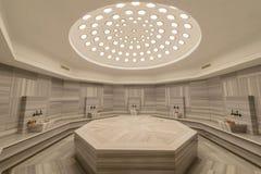Inre av hammam för turkiskt bad Arkivbild