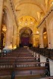 Inre av Havana Cathedral av den jungfruliga Maryen (1748-1777), gröngöling Arkivbilder