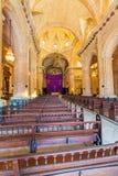 Inre av Havana Cathedral av den jungfruliga Maryen (1748-1777), gröngöling Royaltyfri Fotografi
