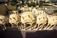 Inre av Hawa Mahal, Jaipur, Indien Arkivbild