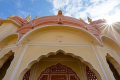 Inre av Hawa Mahal, Jaipur, Indien Royaltyfri Fotografi