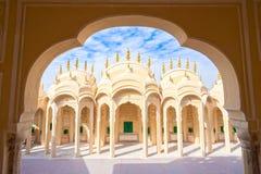 Inre av Hawa Mahal, Jaipur, Indien Fotografering för Bildbyråer