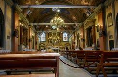 Inre av helgonet Mary Draperis Church, Istanbul Royaltyfri Bild